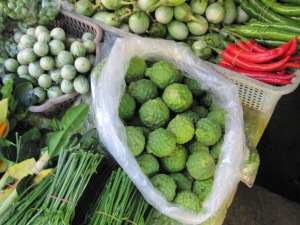 Cooking Class in Chiang Mai - Kaffir Lime on display during visit to local market